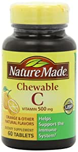 Nature Made Chewable Vitamin C 500mg, 60 Tablets (Pack of 3)