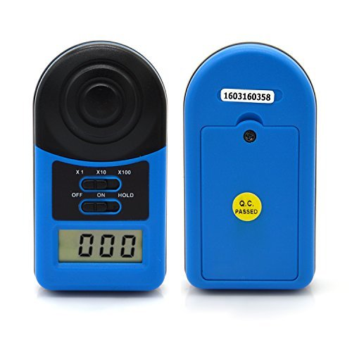 Digital Light Meter,LX1010A Pocket Lux Meter Photographer Luxmeter Measure Tester for Construction,Inspection,Amateur Photographer,Indoor and Outdoor Illuminometer Measuring (Mini Photometer)