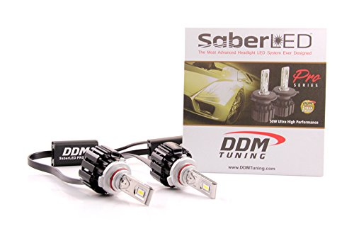 DDM Tuning 50W Saber Pro LED Headlight/Foglight, 10000LM, 6000K, Pair, 2 Year Warranty-FBA (9005/9006 / H10 / 9012)