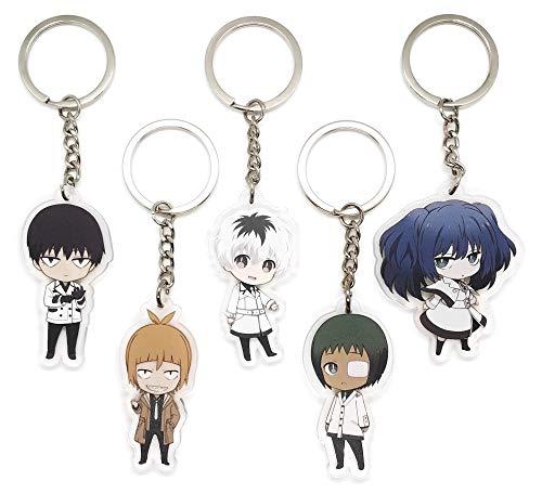 EBTY-Dreams Inc. - Set of 5 Tokyo Ghoul:RE Anime Acrylic Keychain Haise Sasaki, Saiko Yonebayashi, Kuki Urie, Tooru Mutsuki, Ginshi Shirazu (Tokyo Marui Vsr 10 Pro Sniper Tuning)