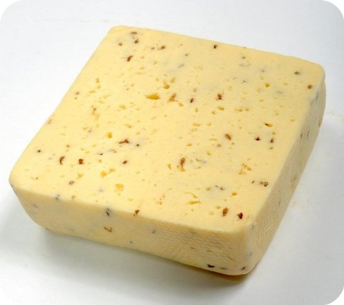 Creamy Havarti Caraway Cheese (Whole Block) Approximately 8 Lbs