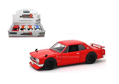 Jada 30009-DP1 ダイカスト 1: 24 ディスプレイ - 金属 - JDM Tuners - 1971 日産スカイライン GT-R (Kpgc10) (3色) セット リテールボックス マルチカラー B07B6G23C6