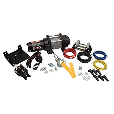 TUSK Winch with Wire Rope and Mount Plate 2500 lb. - Fits: Polaris SPORTSMAN 550 Touring EPS 2010-2014