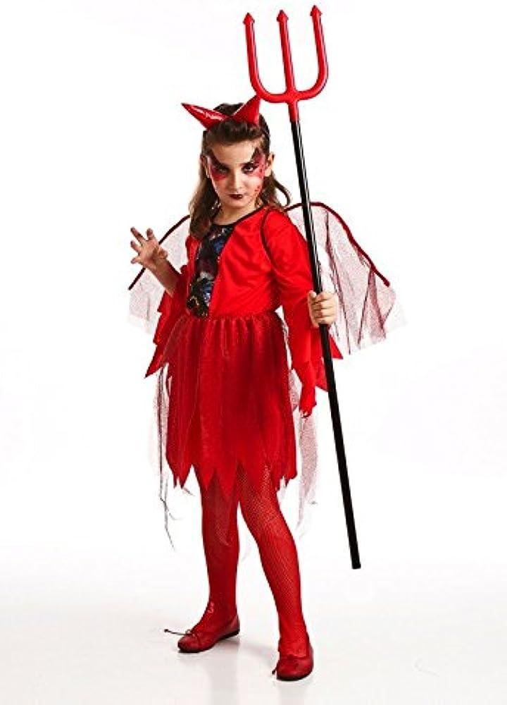 El Rey del Carnaval Disfraz Infantil DIABLESA 6-7: Amazon.es: Ropa ...