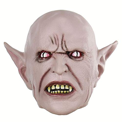 Masks - Scary Latex Horror Clown Mask Halloween Adult Party Costume Accessory - Masque Dissemble Merry Andrew Cloak Buffoon Masquerade Antic Block - 1PCs -