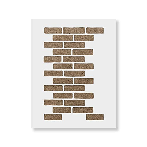 Brick Stencil Template - Reusable Pattern Wall Stencil for Painting Walls and Home - Stencil Brick Wall