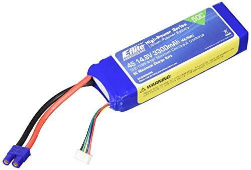 E-flite 3300mAh 4S 14.8V 50C LiPo, 12AWG: EC3, EFLB33004S50