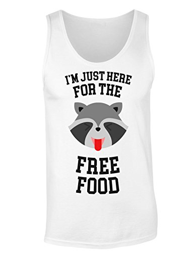 I'm Just Here For The Free Food Hungry Racoon T-shirt senza maniche per Donne Shirt