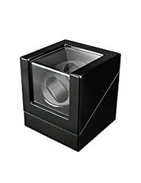 FIRWAY 4 Timer Modes Automatic Double Watch Winder Box with Power Supply Black