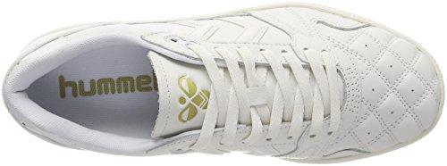 Hummel HB Team Quilt, Scarpe da Ginnastica Basse Unisex – Adulto Bianco (White)