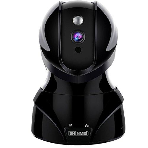 SHINMEI ネットワークカメラ 300万画素 ワイヤレス IPカメラ ペット カメラ 留守 1536P ベビーモニター 監視カメラ WIFI対応 首振り式 暗視撮影マイク内蔵通信可能 音声双方向機能 動体検知 ペット/子供見守り (ブラック) B07D75BDVP ブラック ブラック