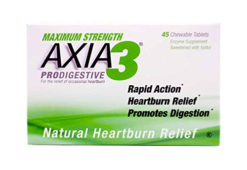 Axia 3 Antacid ProDigestive Antacid - Mint - 45 Chewable Tablets