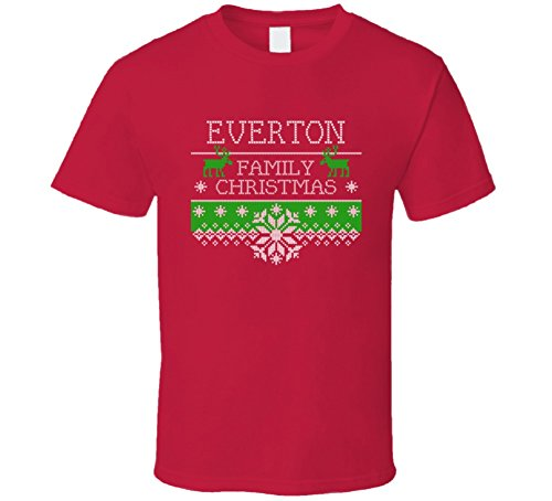 Everton Christmas Sweater - Everton Family Ugly Christmas Sweater Holiday Noel T Shirt 2XL Red
