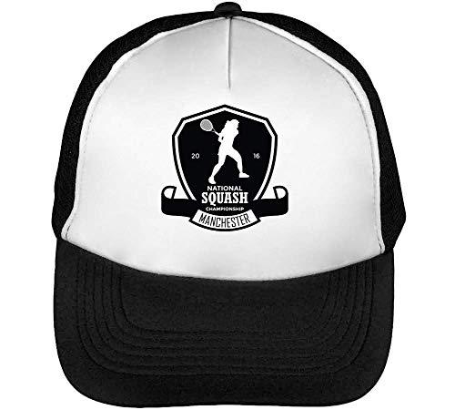 Sport Badge Squash Championship Gorras Hombre Snapback Beisbol Negro Blanco