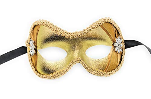 - Arianna Crystal Beauty Masquerade Mask for Women (Gold)