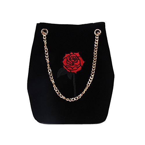 Winter Bags Messenger Diamond Shoulder Velvet Embroidery Black Autumn 1 Bag Velour rx4trO
