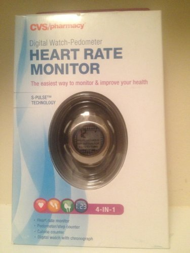 CVS 4-in-1 Heart Rate Monitor/ Pedometer/ Calorie Counter/ C