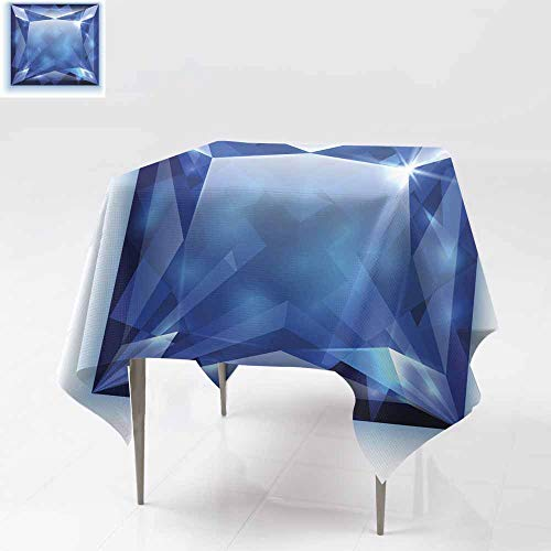 - Fbdace Resistant Table Cover,Princess Cut Sapphire Illustration Great for Buffet Table, Parties& More 54x54 Inch