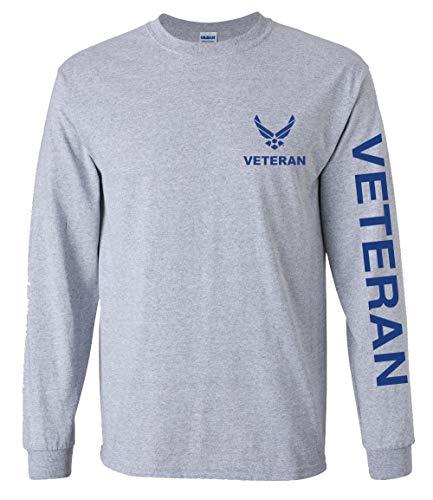 U.S. Air Force Veteran Long Sleeve Tshirt (Sports Grey, Medium)