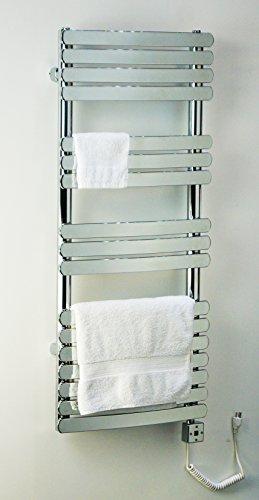 Heated Towel Bar Rack Wall Mount Rail Electric Bathroom Warmer and Space Heater R07C-500. CDM