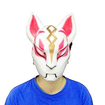 Ginkago Fort Game Plastic Fox Drift Mask Helmet Halloween Latex Costumes for Adult Kids Game