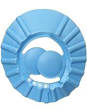 قبعة استحمام للحماية من الشامبو للاطفال , ازرق