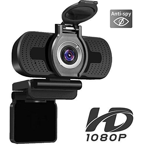 🥇 iAmotus Webcam 1080P Full HD con Micrófono Incorporado y Cubierta de Privacidad