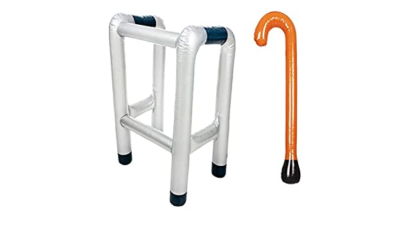 Toyvian 2 unids Inflable Zimmer Frame y Walking Stick Blow ...