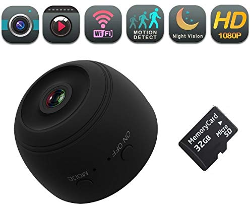 DENT WiFi HD 1080P Mini Camera, Wireless Magnetic Indoor Security Nanny Cam -