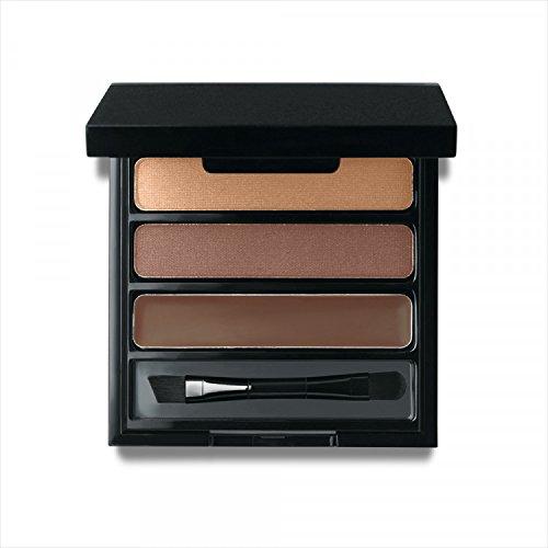 Jolie Eye Brow Shaper Kit ~ Pressed Powder & Tinted Wax + Takelon Brush - Deep