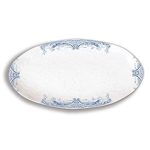 Antique Fish Platter - Michel Design Works Melamine Oval Serving Platter, Antique Scroll