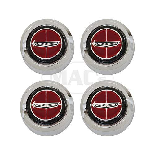 MACs Auto Parts 42-78489 Magnum 500 Wheel Cap Set