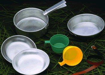 Two-Person Aluminum Cook Set, Outdoor Stuffs