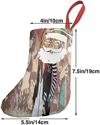 クリスマスの日の靴下 (ソックス3個)クリスマスデコレーションソックス 音楽Avril クリスマス、ハロウィン 家庭用、ショッピングモール用、お祝いの雰囲気を加える 人気を高める、販売、プロモーション、年次式