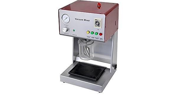superdental nueva ax-2000b Dental Lab vacío Mezclador Mezcla máquina laboratorio equipo Digital vaso mezclador mezcladora al vacío con bomba de vacío integrado (opcional electrónico instrumento CE: Amazon.es: Hogar