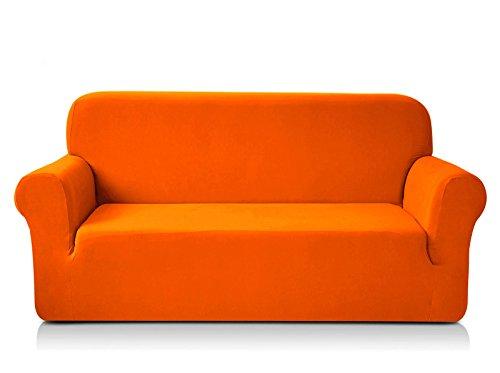 Chun Yi 1-Piece Knit Fabric Slipcover for Sofa - Orange