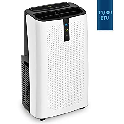 JHS 14,000 BTU Powerful Portable Air Conditioner Portable AC Unit, A018-14KR/C Upgraded Version Remote Control Air Cooler Dehumidifier Fan for Rooms up to 320 Sq. Ft