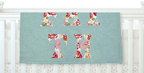 KESS InHouse Suzanne Carter ''FAITH'' Blue Red Fleece Baby Blanket, 40'' x 30'' by Kess InHouse