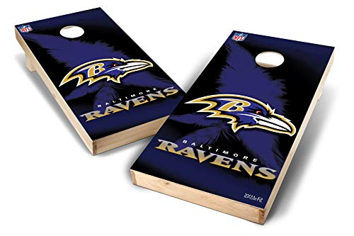 PROLINE NFL Baltimore Ravens 2'x4' Cornhole Board Set - Wild Design