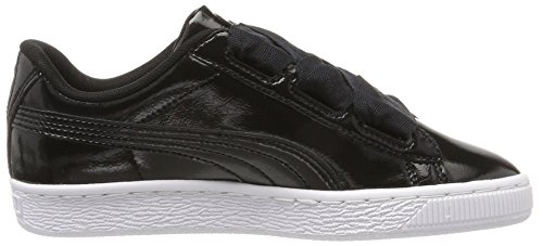 Glam black black Puma Basket Mixte Sneakers Jr Noir Enfant Heart Basses 1HBExSUq