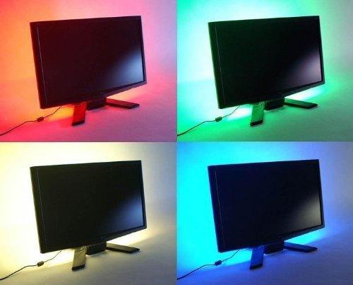 SUNTEC - Kit de iluminación LED multicolor RGB para televisor (200 cm, con cable
