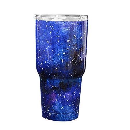 Iconicstore Stainless Steel Tumbler Insulated Starry Sky Coffee Tea Mug for Home Office Blue