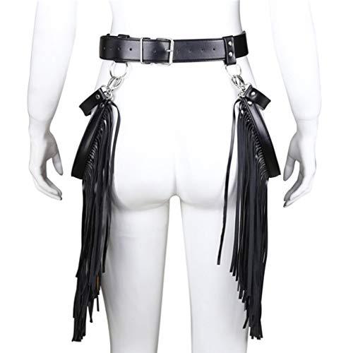 CXQ Fun Shoe Metal Buckle Belt Fringe Pants for A'dults ()