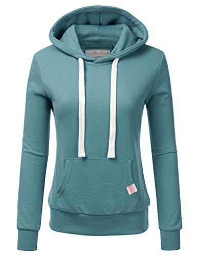 - Doublju Basic Lightweight Pullover Hoodie Sweatshirt for Women TEALBLUE 3X Plus Size