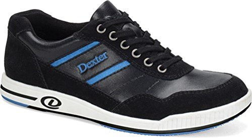 Image of the Dexter Men's David Bowling Shoes, Black/Blue, 7.5