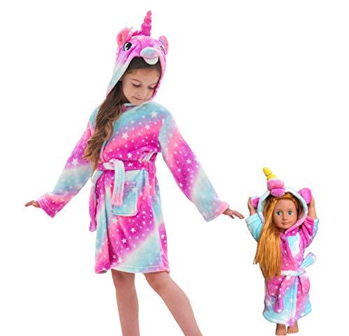 Soft Unicorn Hooded Bathrobe Sle...