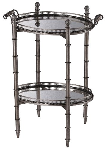 Sterling 6043716 Tyrella Metal/Antique Mirror Transitional Tray Table, 32-Inch, Silver - British Colonial Mirror