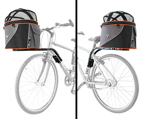 DoggyRide Cocoon XL Bicycle Basket on Britch Rack for Front or Rear Connection