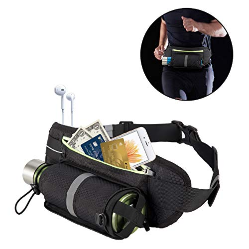 Pacific Asiana Outdoor Waist Bag Pack Pocket Fanny Pack with Adjustable Strap for Sporting, Jogging, Walking, Hiking, Cycling, Climbing, Carrying Your Phone, Water Bottle for Men, Women,