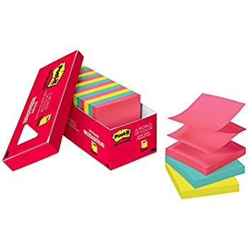 Amazon.com : Post-it Pop-Up Notes, 18-Pads Cabinet Pack, 100 ...